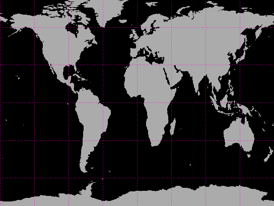 Cylindrical Projection of the Earth